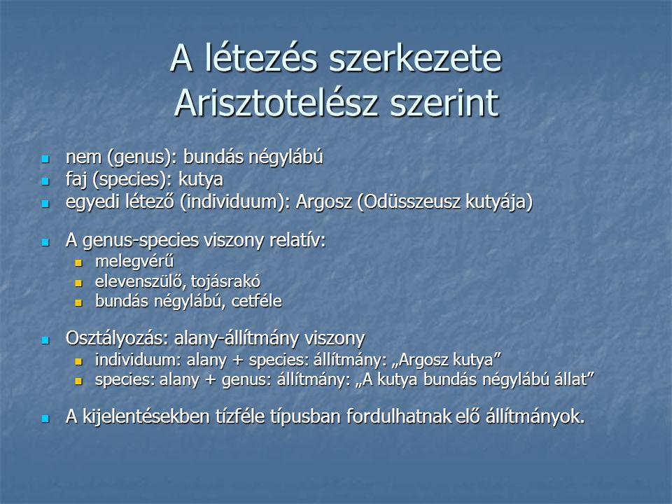 A létezés szerkezete Arisztotelész szerint