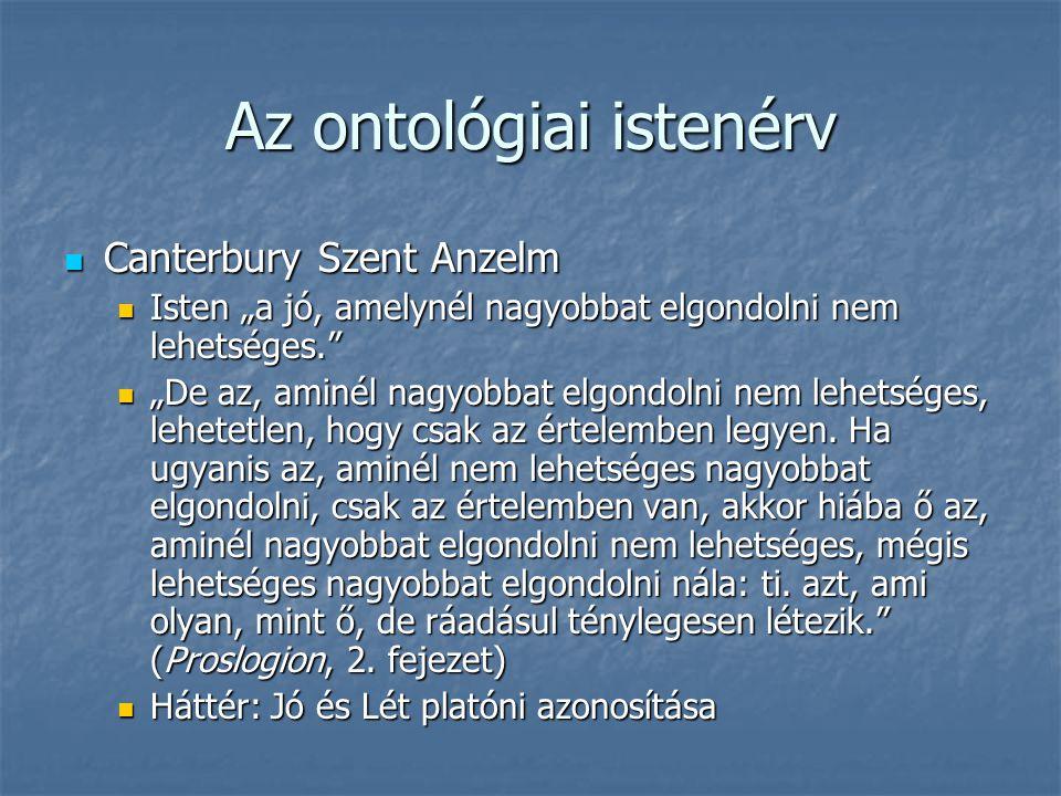 Az ontológiai istenérv