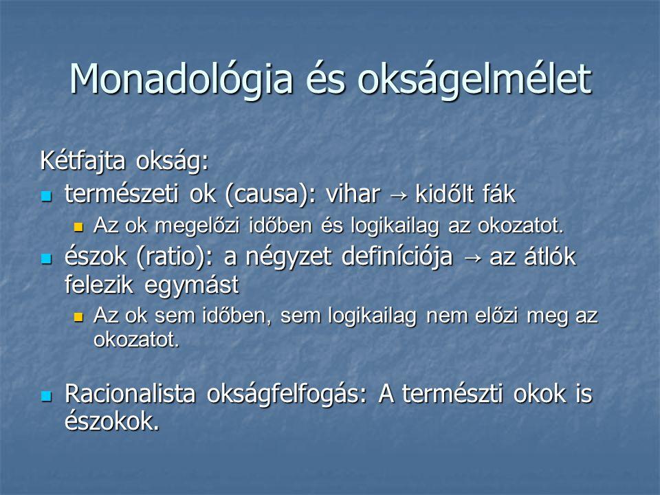 Monadológia és okságelmélet