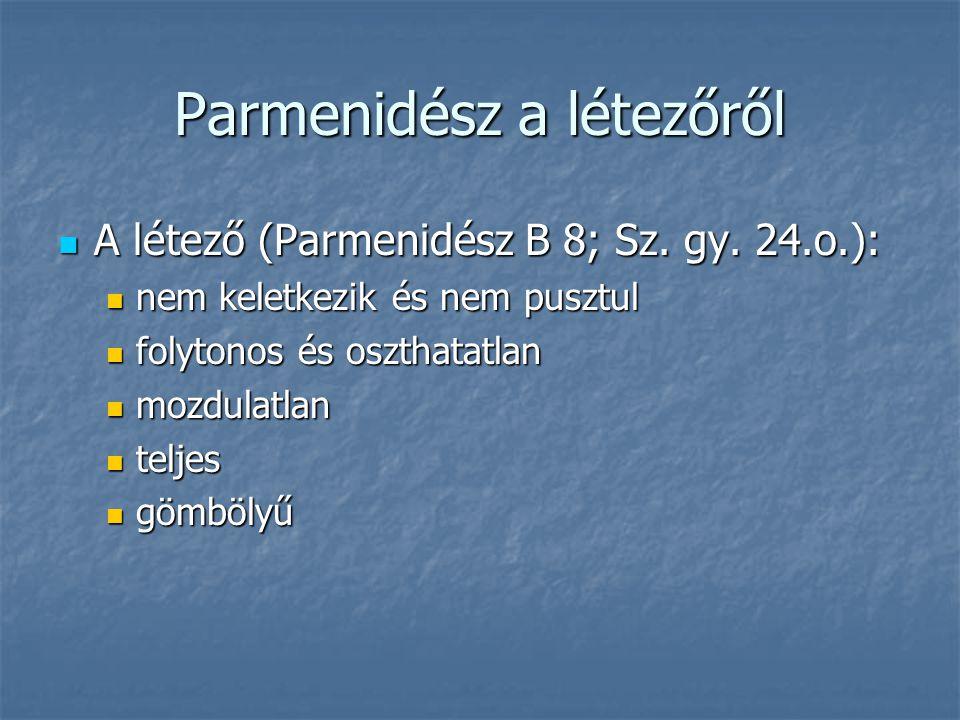Parmenidész a létezőről
