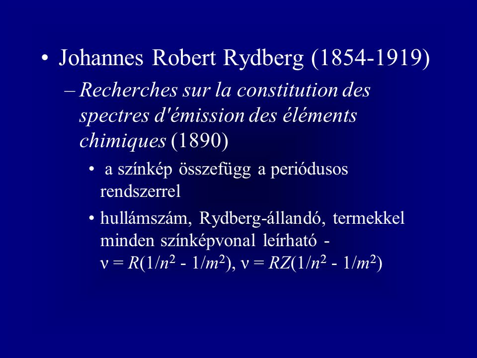 Johannes Robert Rydberg (1854-1919)