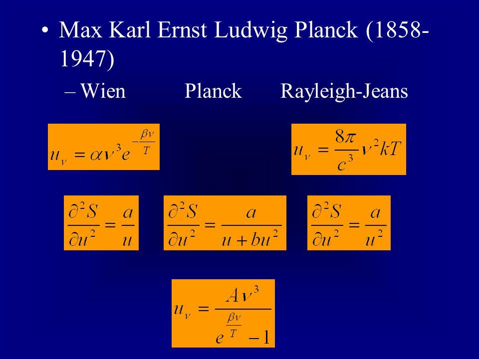 Max Karl Ernst Ludwig Planck (1858-1947)