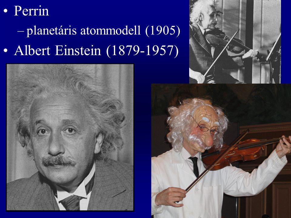 Perrin planetáris atommodell (1905) Albert Einstein (1879-1957)