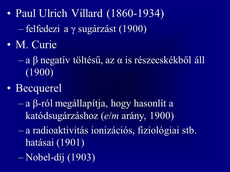 Paul Ulrich Villard (1860-1934) M. Curie