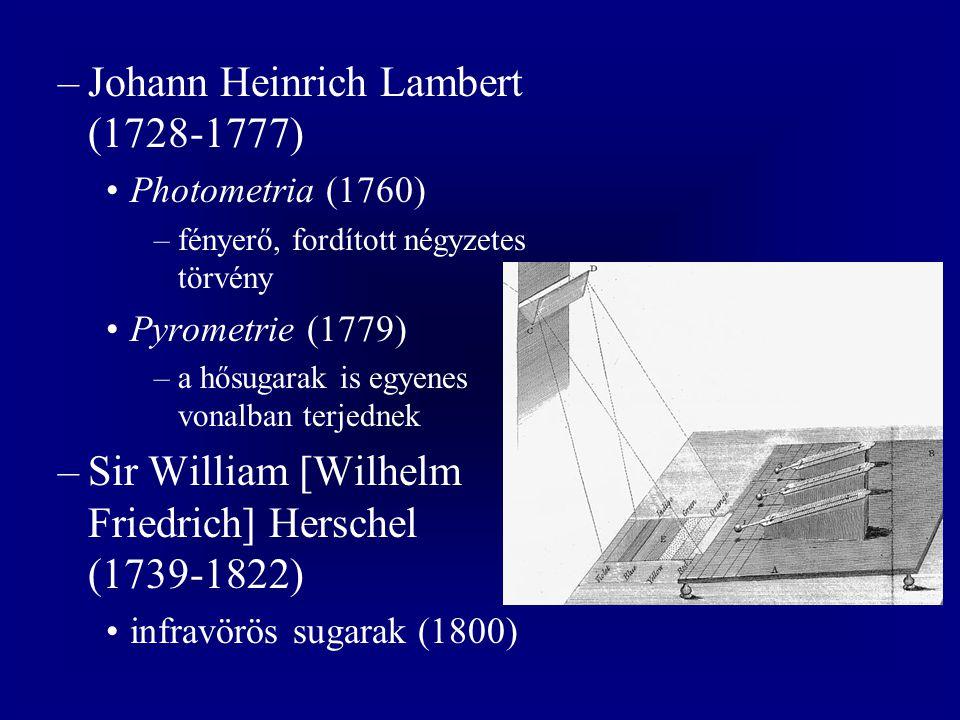 Johann Heinrich Lambert (1728-1777)
