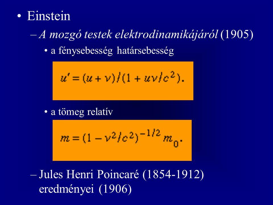 Einstein A mozgó testek elektrodinamikájáról (1905)