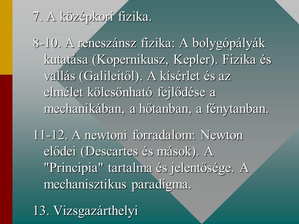 7. A középkori fizika.