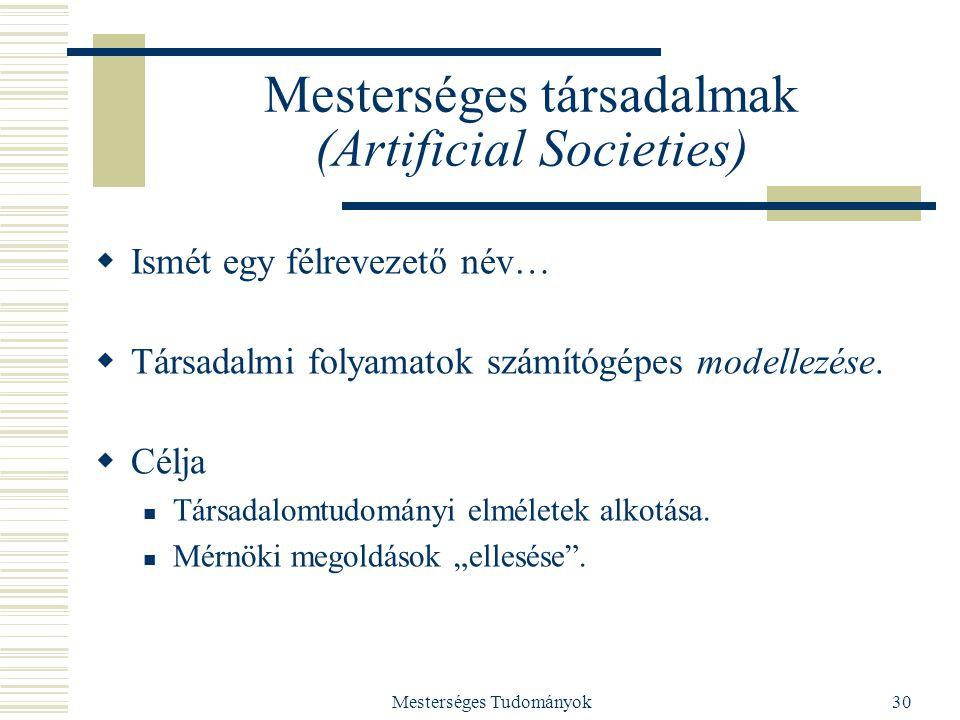 Mesterséges társadalmak (Artificial Societies)