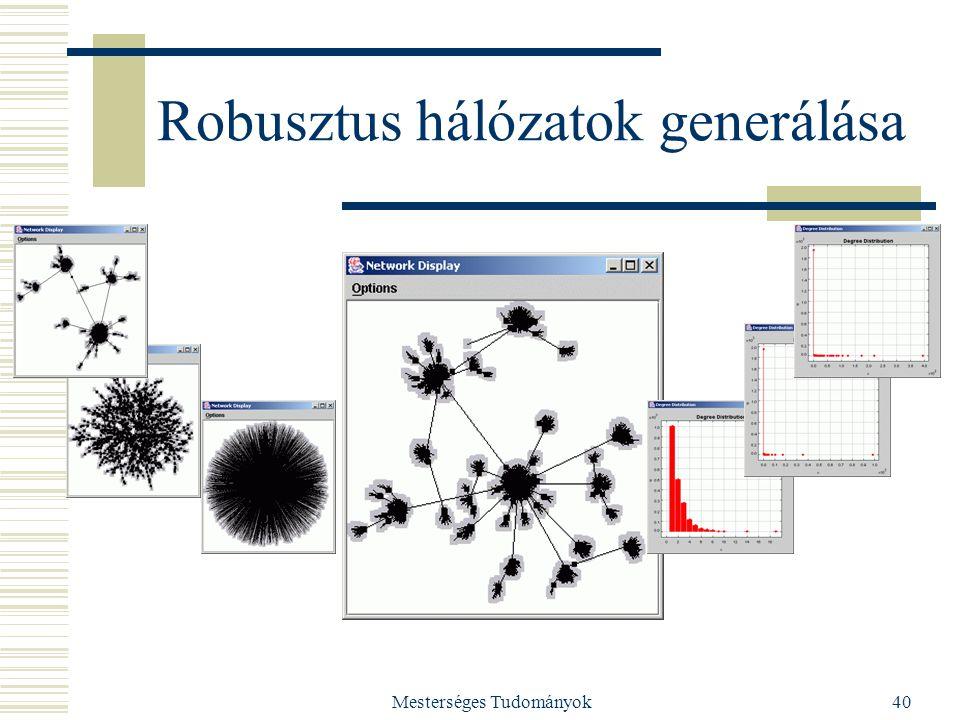 Robusztus hálózatok generálása