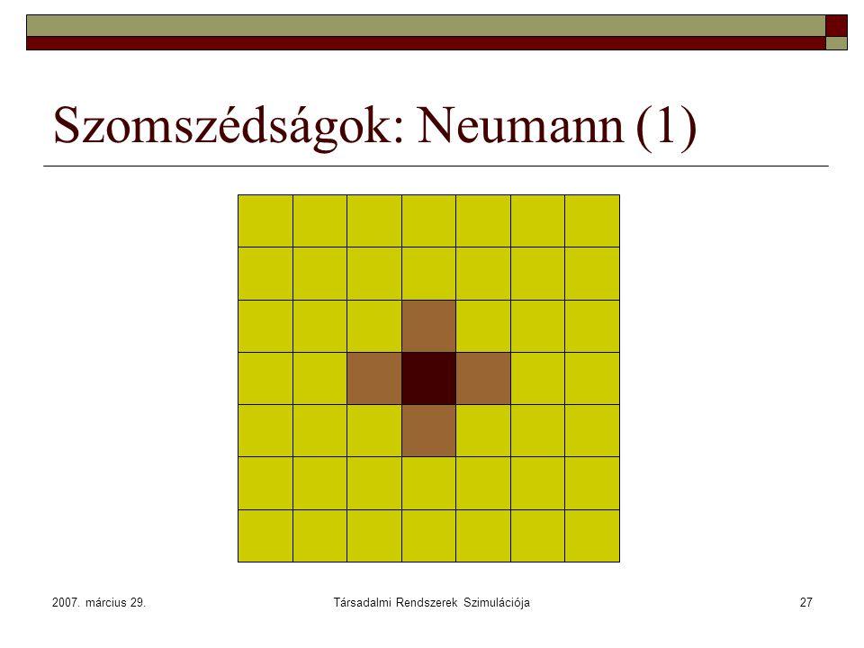 Szomszédságok: Neumann (1)
