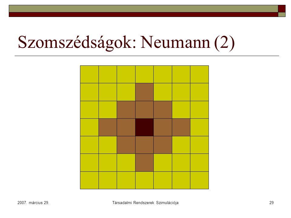 Szomszédságok: Neumann (2)