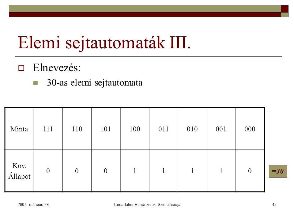 Elemi sejtautomaták III.