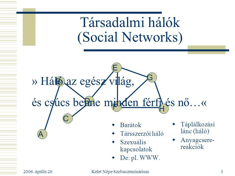 Társadalmi hálók (Social Networks)