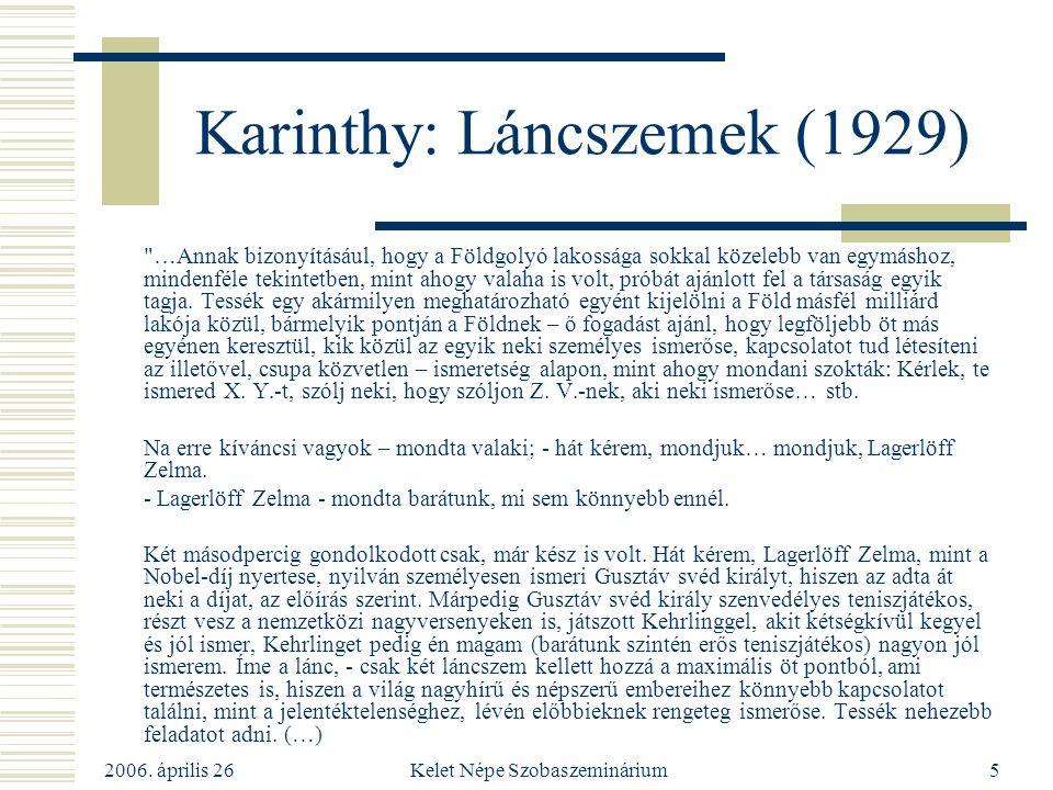 Karinthy: Láncszemek (1929)