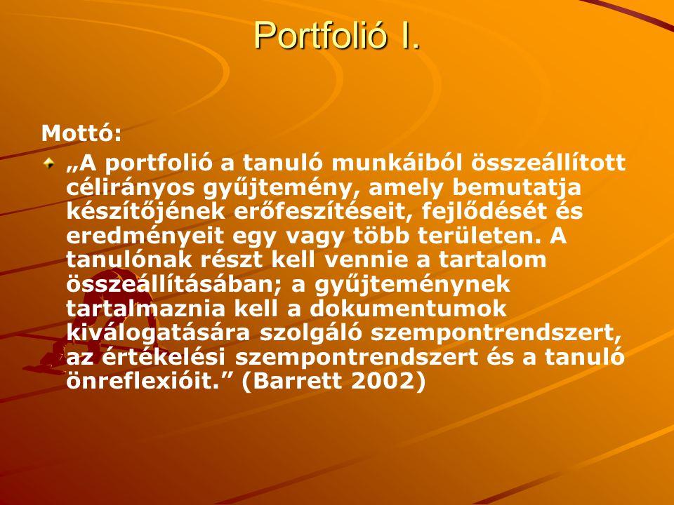 Portfolió I. Mottó: