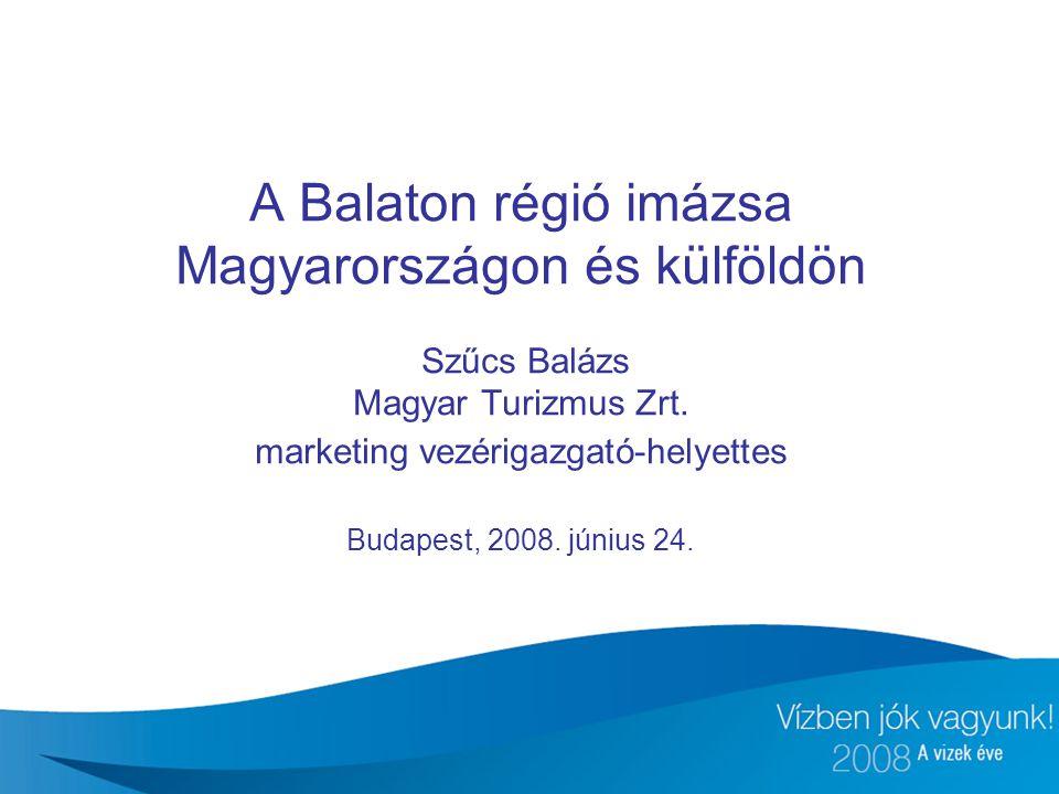 A Balaton régió imázsa Magyarországon és külföldön Szűcs Balázs Magyar Turizmus Zrt.