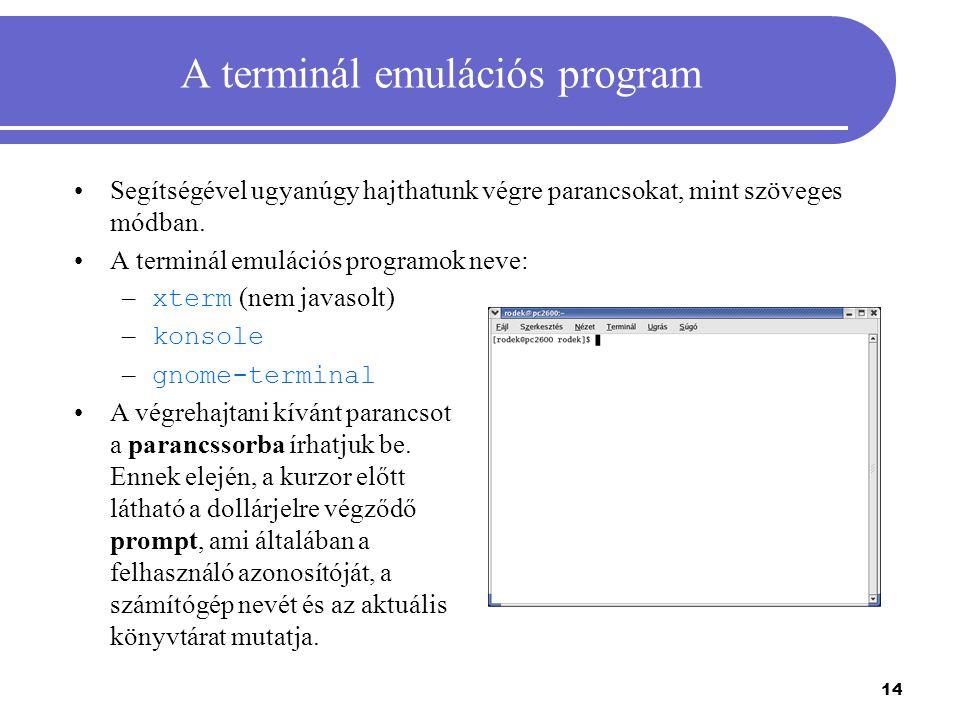 A terminál emulációs program