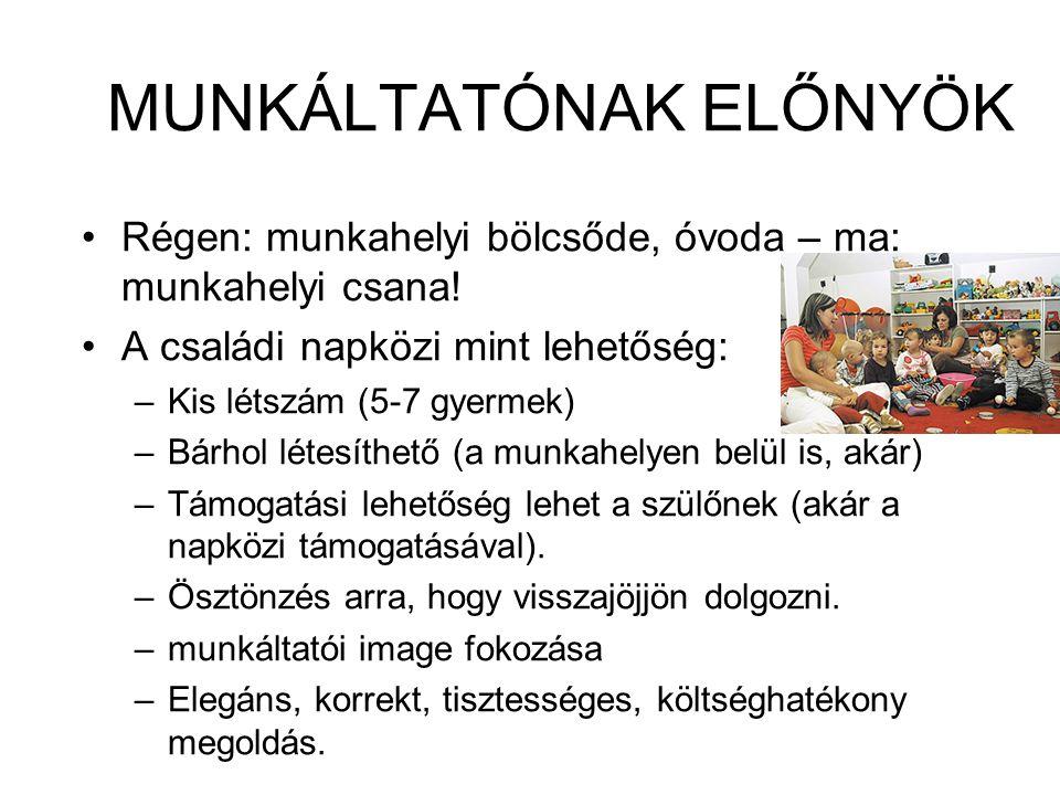 MUNKÁLTATÓNAK ELŐNYÖK