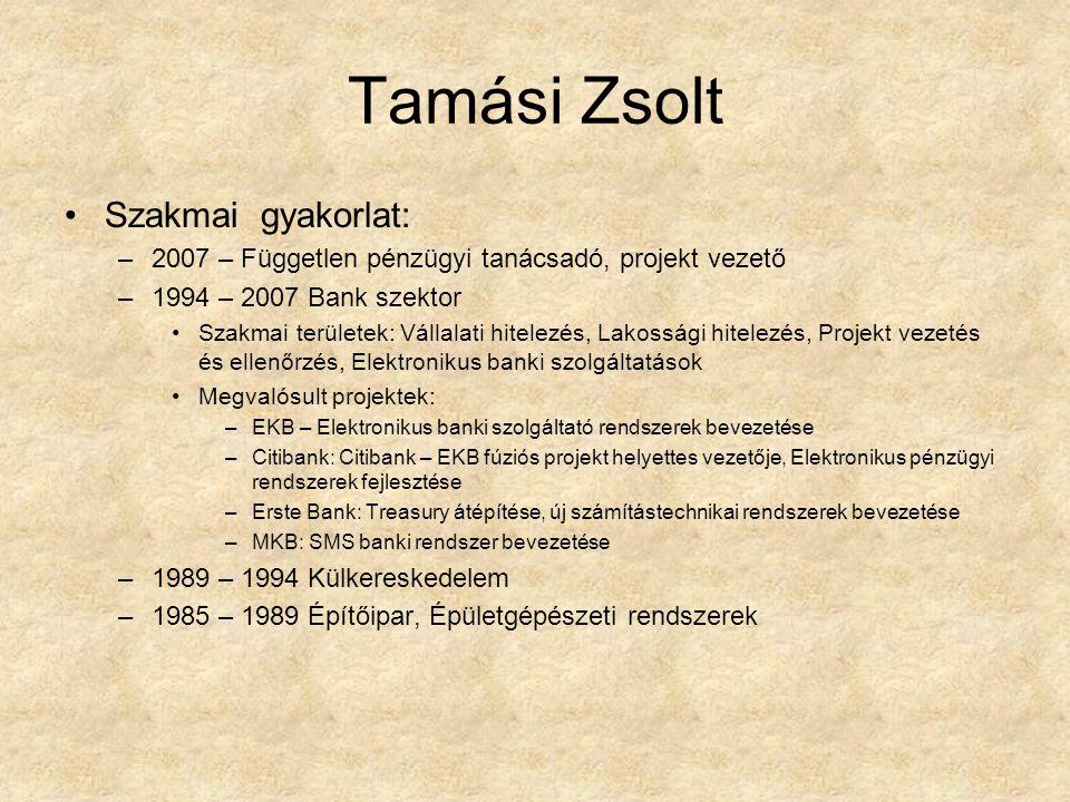 Tamási Zsolt Szakmai gyakorlat: