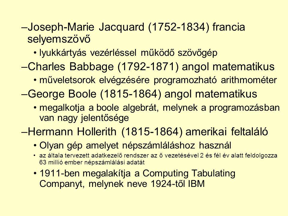 Joseph-Marie Jacquard (1752-1834) francia selyemszövő