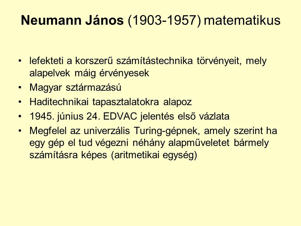 Neumann János (1903-1957) matematikus
