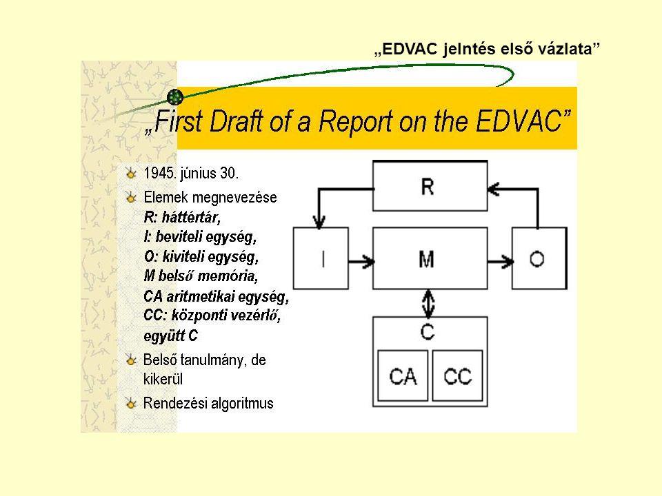"""""""EDVAC jelntés első vázlata"""