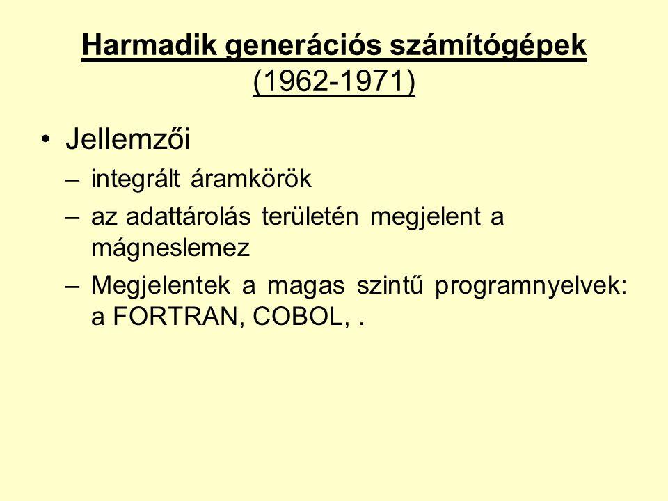 Harmadik generációs számítógépek (1962-1971)