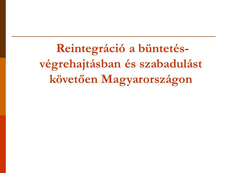 Reintegráció a büntetés-végrehajtásban és szabadulást követően Magyarországon