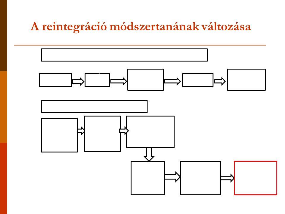 A reintegráció módszertanának változása