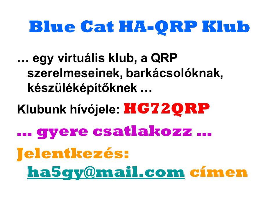 Blue Cat HA-QRP Klub … gyere csatlakozz …