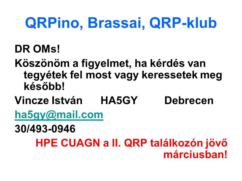 QRPino, Brassai, QRP-klub