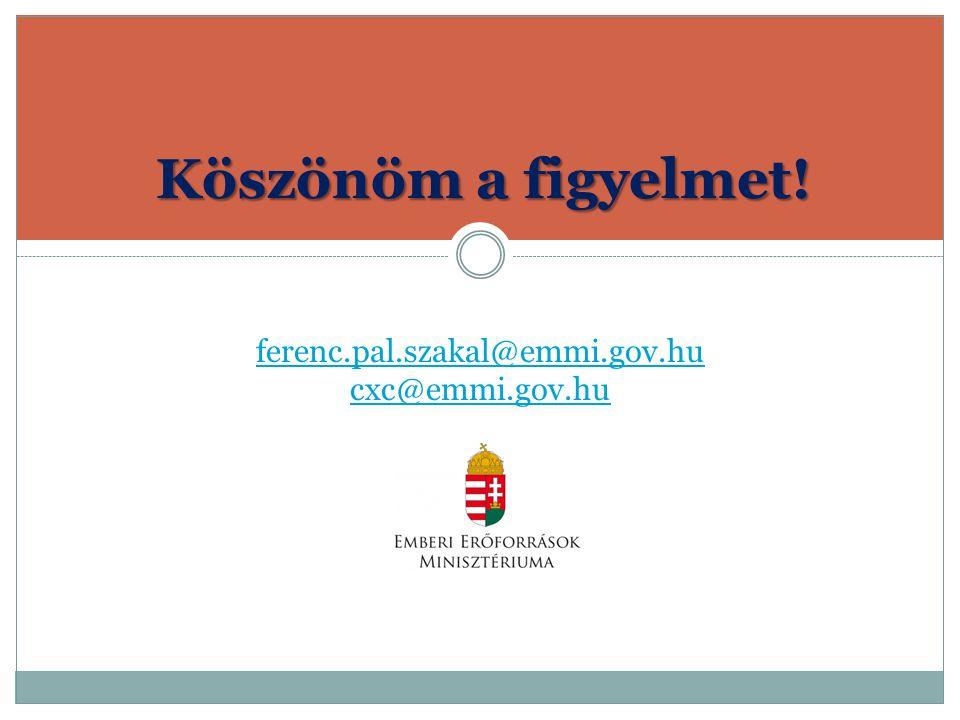 ferenc.pal.szakal@emmi.gov.hu cxc@emmi.gov.hu