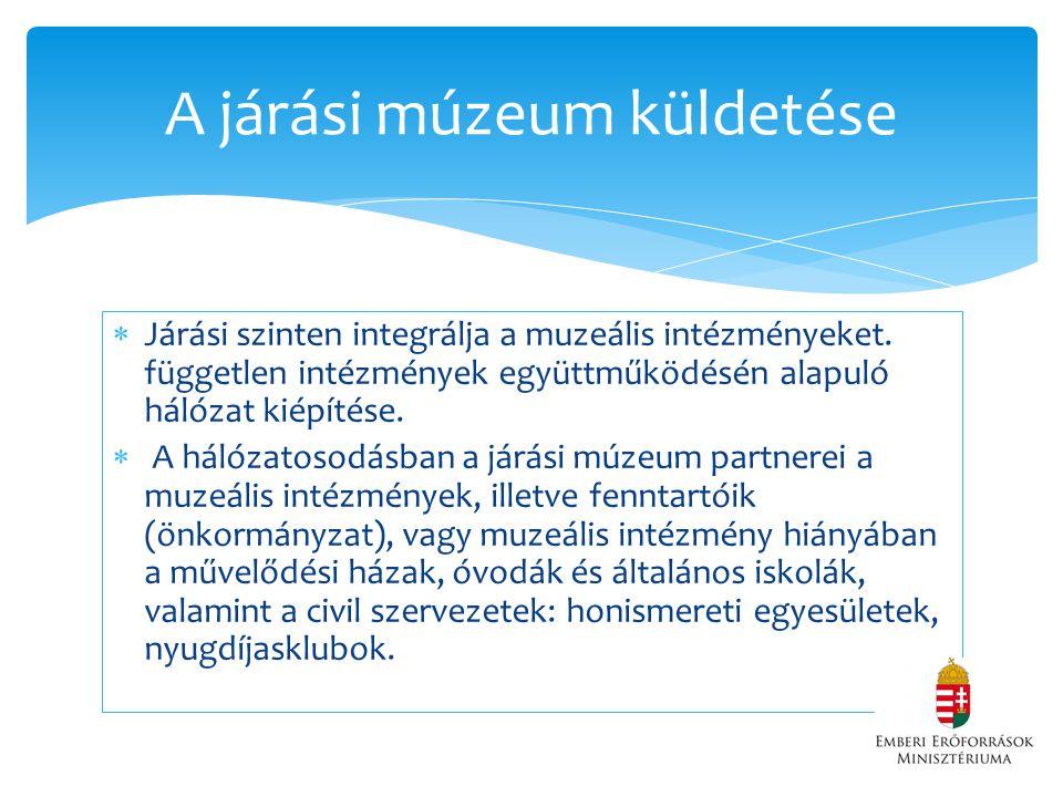 A járási múzeum küldetése