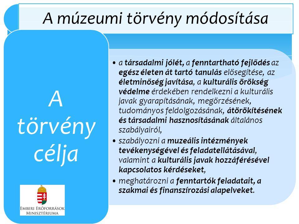 A múzeumi törvény módosítása