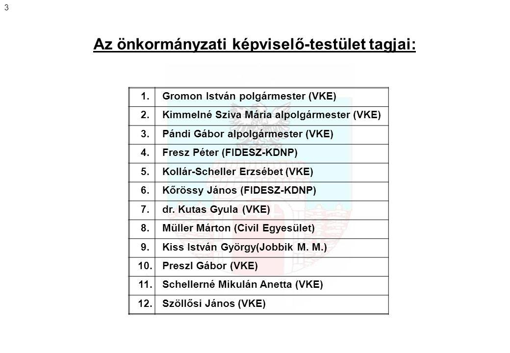 Az önkormányzati képviselő-testület tagjai:
