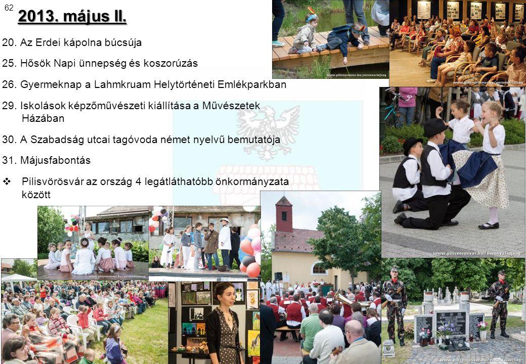2013. május II. 20. Az Erdei kápolna búcsúja
