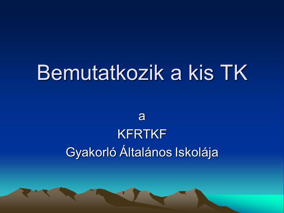 a KFRTKF Gyakorló Általános Iskolája