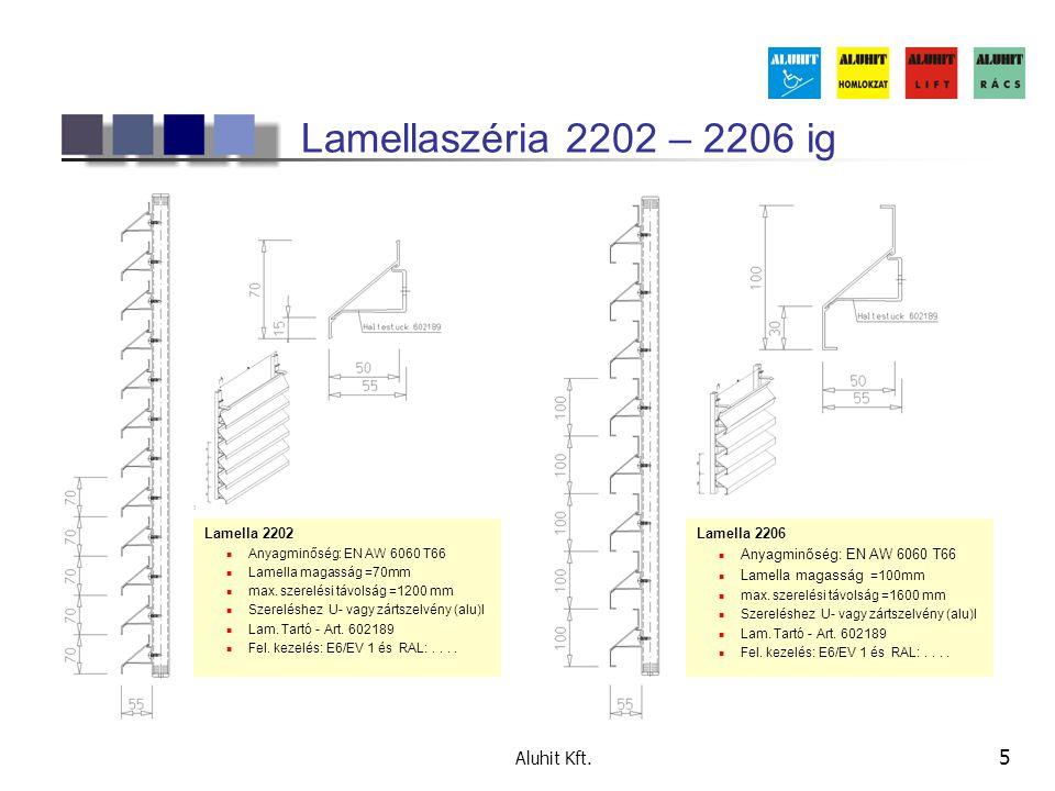 Lamellaszéria 2202 – 2206 ig Aluhit Kft. Lamella 2202 Lamella 2206