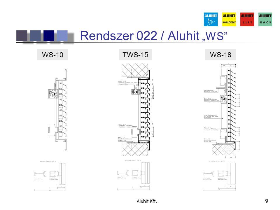 """Rendszer 022 / Aluhit """"WS WS-10 TWS-15 WS-18 Aluhit Kft."""