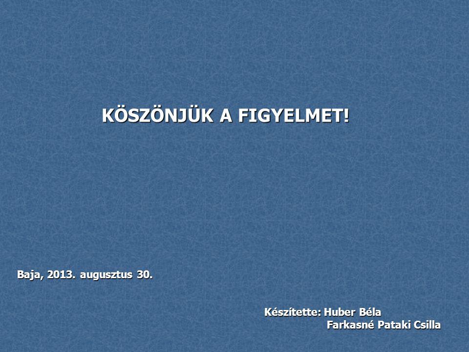 Készítette: Huber Béla Farkasné Pataki Csilla