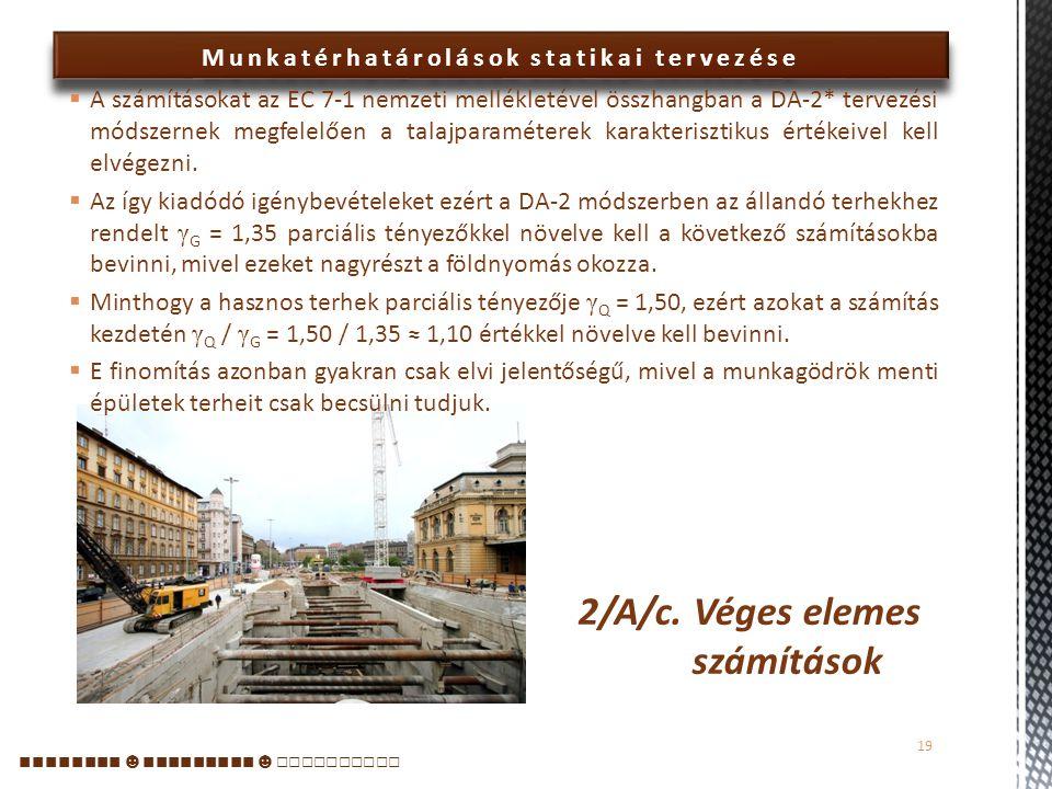 2/A/c. Véges elemes számítások