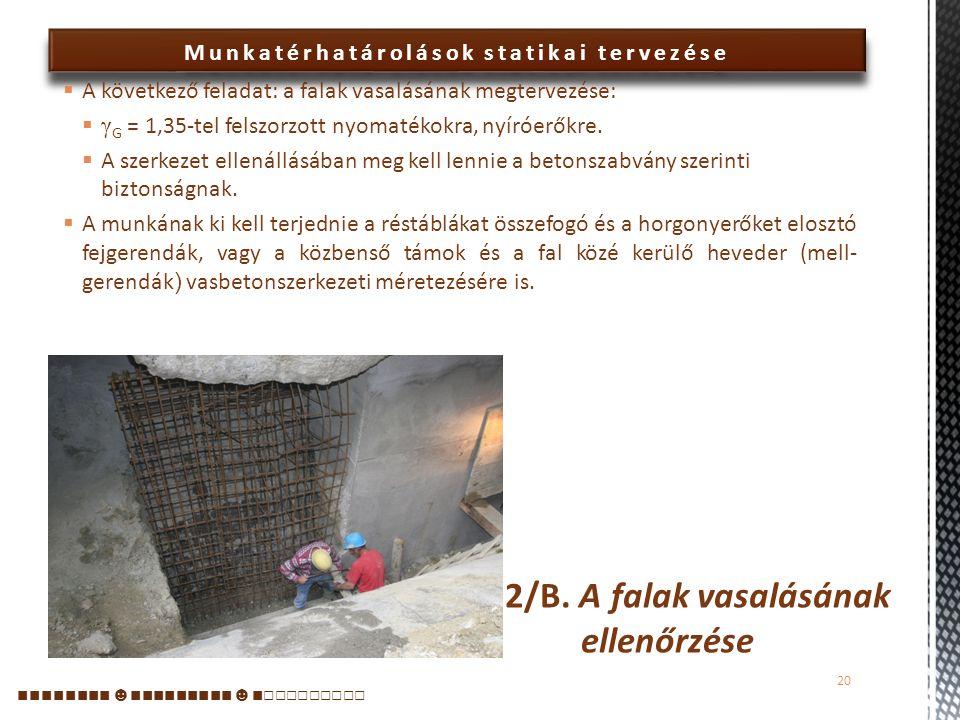 2/B. A falak vasalásának ellenőrzése