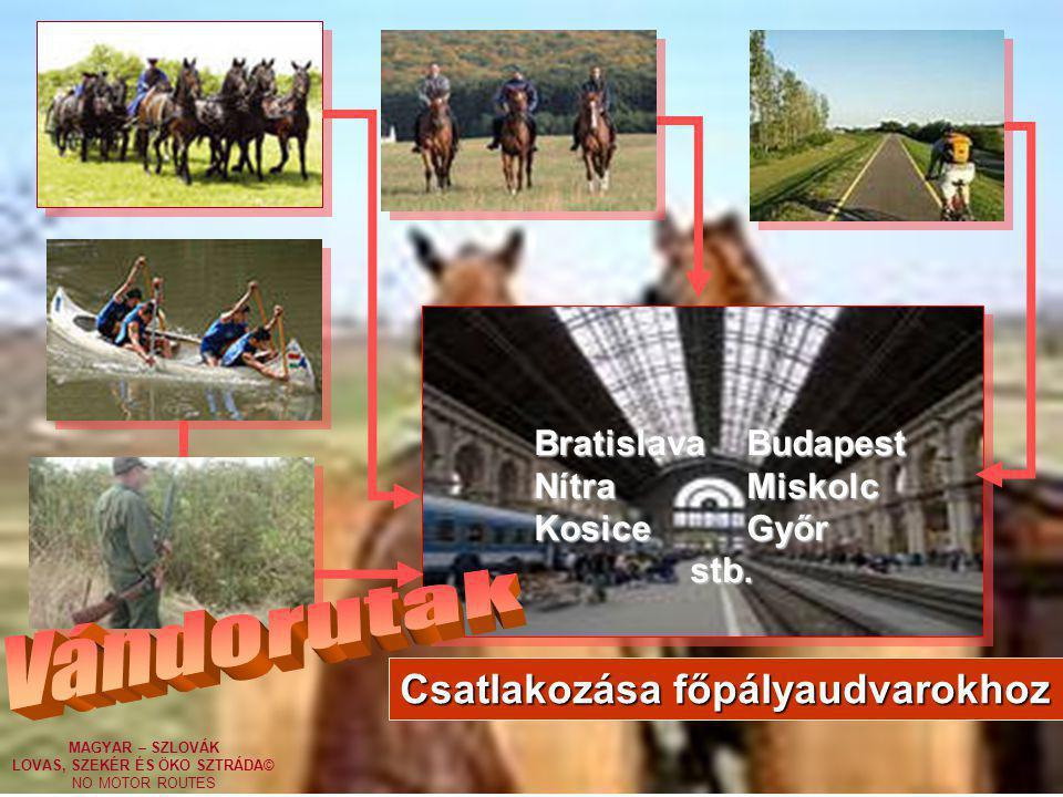 Vándorutak Csatlakozása főpályaudvarokhoz Bratislava Budapest