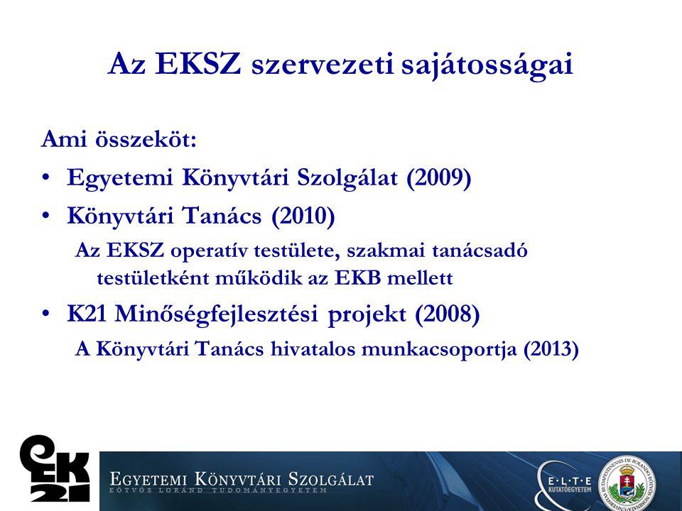 Az EKSZ szervezeti sajátosságai