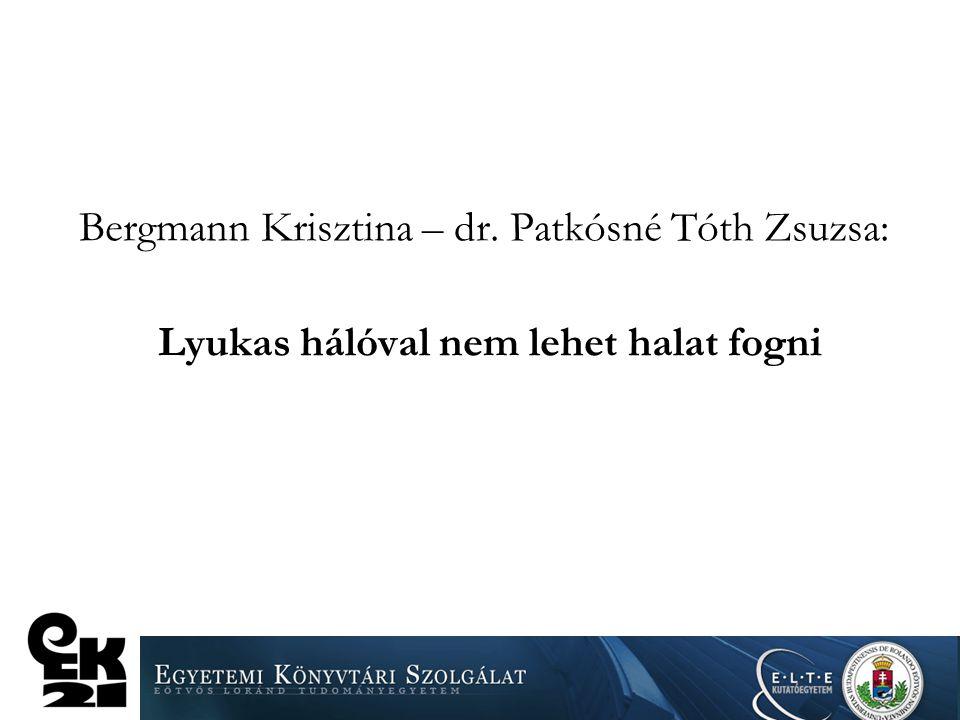 Bergmann Krisztina – dr