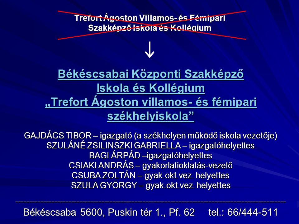 Trefort Ágoston Villamos- és Fémipari Szakképző Iskola és Kollégium