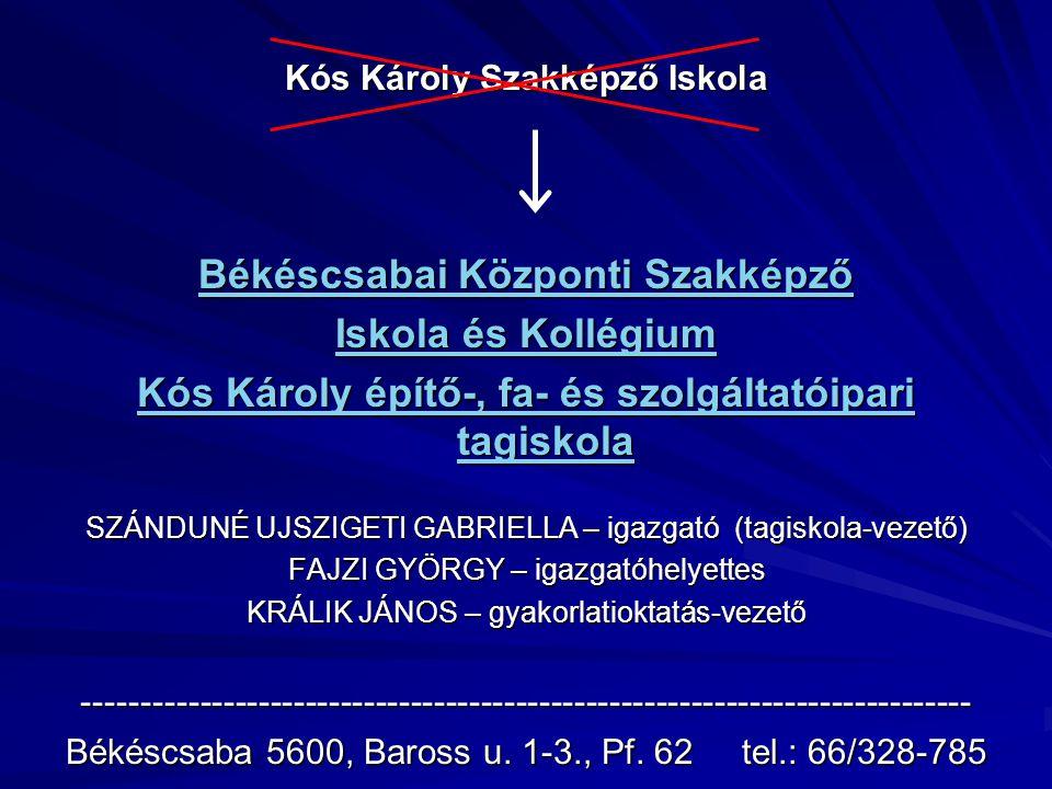 Kós Károly Szakképző Iskola