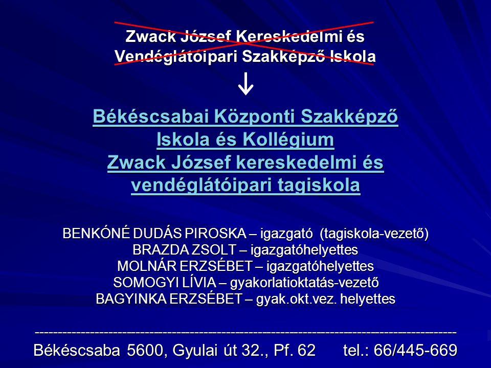 Zwack József Kereskedelmi és Vendéglátóipari Szakképző Iskola