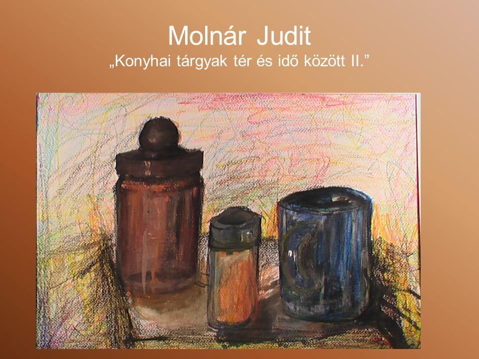 """Molnár Judit """"Konyhai tárgyak tér és idő között II."""
