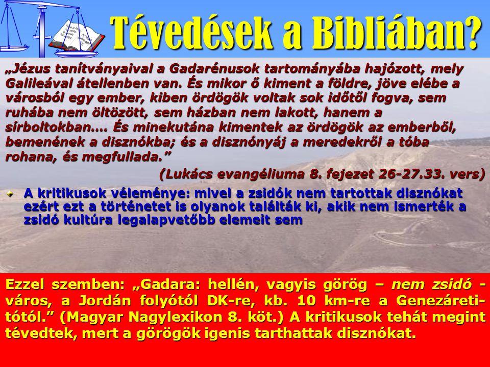 Tévedések a Bibliában